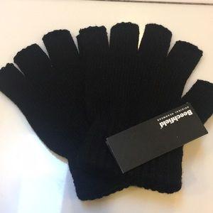 Beechfield Accessories - Beechfield Fingerless Black Gloves